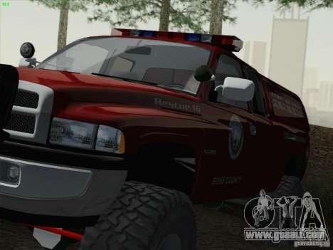 Dodge Ram 3500 Search & Rescue for GTA San Andreas right view