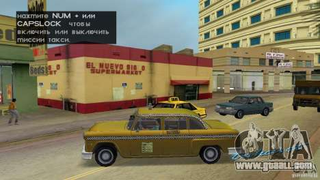 Cabbie HD for GTA Vice City left view