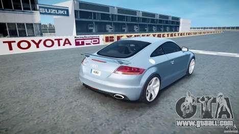 Audi TT RS 2010 for GTA 4 upper view