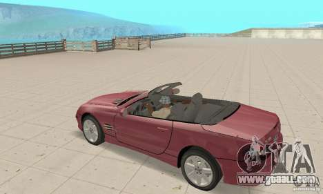 Mercedes-Benz SL500 (R230) for GTA San Andreas back view