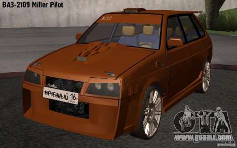 VAZ 2109 Miller Pilot for GTA San Andreas