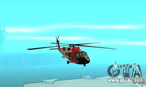 HH-60 Jayhawk USCG for GTA San Andreas inner view