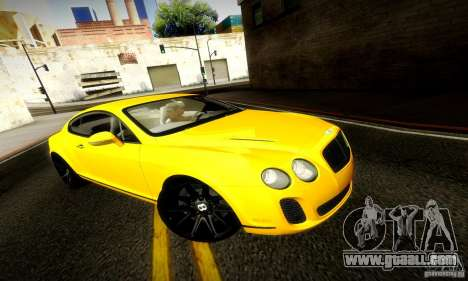 Bentley Continental Supersports for GTA San Andreas inner view