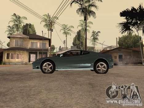 Ferrari 360 Modena for GTA San Andreas left view