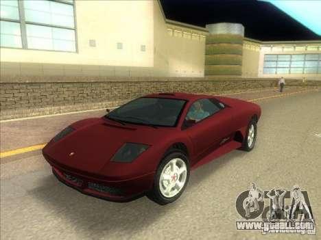 Infernus from GTA IV for GTA Vice City