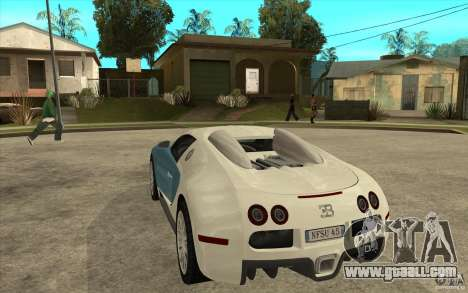 Spoiler for the Bugatti Veyron Final for GTA San Andreas second screenshot