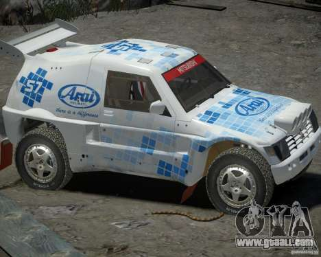 Mitsubishi Pajero Proto Dakar EK86 vinyl 3 for GTA 4 back left view