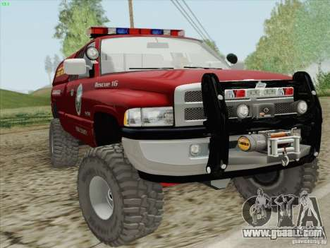 Dodge Ram 3500 Search & Rescue for GTA San Andreas inner view