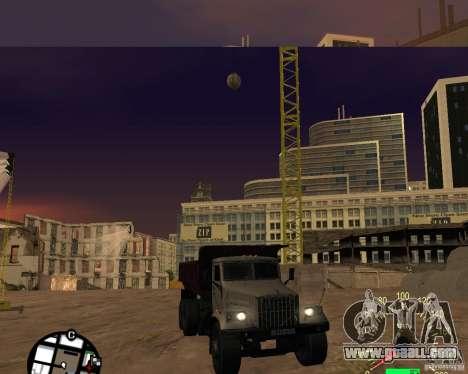 KrAZ-256 dump truck for GTA San Andreas