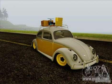 Volkswagen Beetle Edit for GTA San Andreas back left view