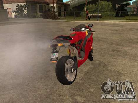 Ducati 999s for GTA San Andreas back left view