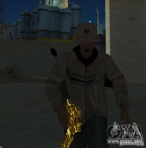 [GOLD] m4 for GTA San Andreas third screenshot