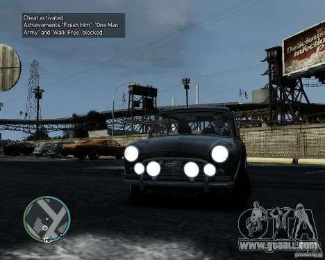 Austin Mini Cooper S for GTA 4 left view
