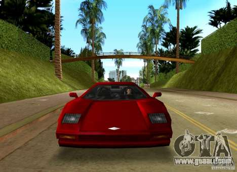Infernus BETA for GTA Vice City back view