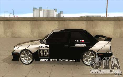 BMW E30 M3 - Coupe Explosive for GTA San Andreas left view