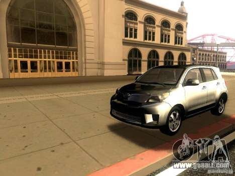 Scion xD for GTA San Andreas back left view