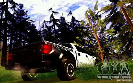 Ford Raptor Crewcab 2012 for GTA San Andreas right view