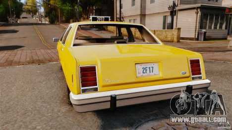Ford LTD Crown Victoria 1987 L.C.C. Taxi for GTA 4 back left view