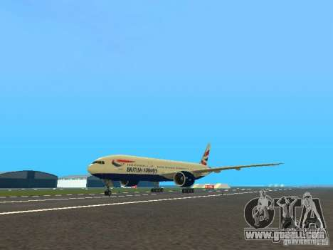 Boeing 777-200 British Airways for GTA San Andreas