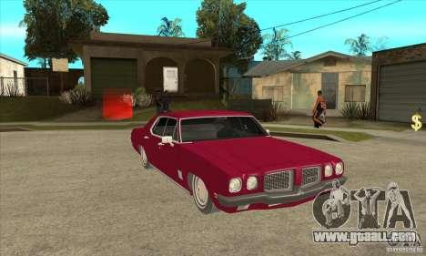 Pontiac LeMans for GTA San Andreas back view