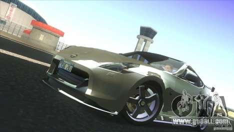 Nissan 370Z Drift 2009 V1.0 for GTA San Andreas inner view