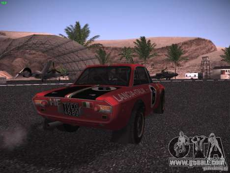 Lancia Fulvia Rally for GTA San Andreas back left view