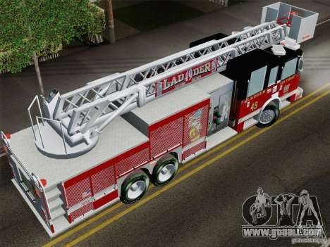 Pierce Rear Mount SFFD Ladder 49 for GTA San Andreas back view