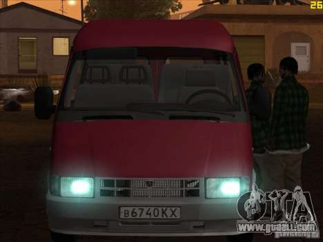 GAZ 22171 Sable for GTA San Andreas back left view