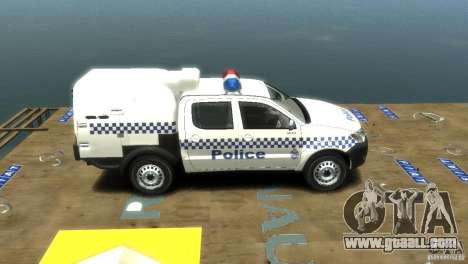 Toyota Hilux Australian Police ELS for GTA 4 right view