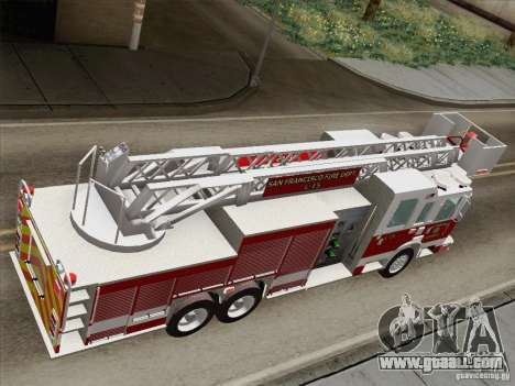 Pierce Aerials Platform. SFFD Ladder 15 for GTA San Andreas back view