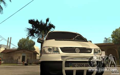 Volkswagen Transporter T4 for GTA San Andreas back view
