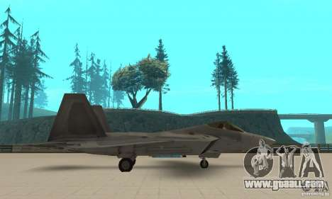 F-22 Grey for GTA San Andreas left view