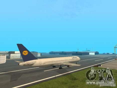 Boeing 767-300 Lufthansa for GTA San Andreas back left view