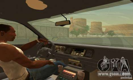 Ford Crown Victoria Wyoming Police for GTA San Andreas back left view