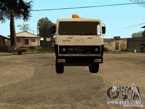 MAZ 54323 TOW TRUCK for GTA San Andreas back view