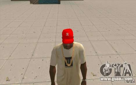 Newyorkyankiys Cap Red for GTA San Andreas second screenshot
