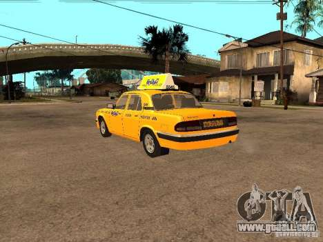 Gaz-31105 Volga Taxi for GTA San Andreas back left view