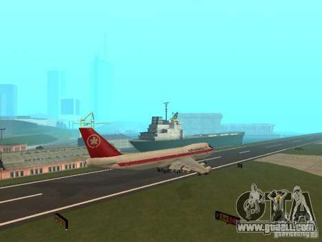 Boeing 747 Air Canada for GTA San Andreas back view