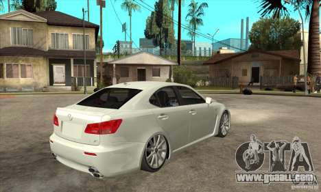 Lexus IS F 2009 for GTA San Andreas inner view
