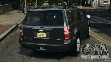 Chevrolet Suburban GMT900 2008 v1.0 for GTA 4 back left view