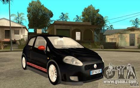 Fiat Grande Punto 3.0 Abarth for GTA San Andreas back view