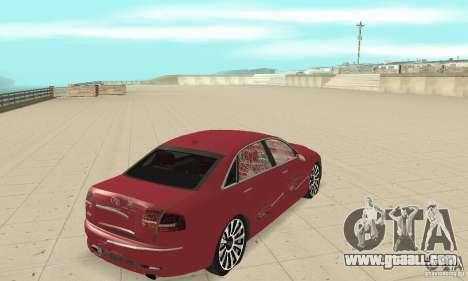 Audi A8L 4.2 FSI for GTA San Andreas upper view