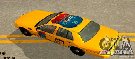 Ford Crown Victoria 2003 Taxi for state 99 for GTA San Andreas back left view