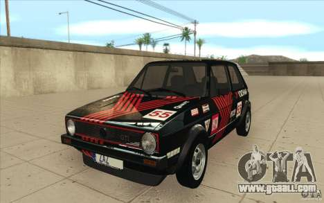 Volkswagen Golf Mk1 - Stock for GTA San Andreas bottom view