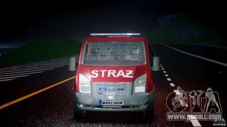 Ford Transit Polish Firetruck [ELS] for GTA 4 upper view