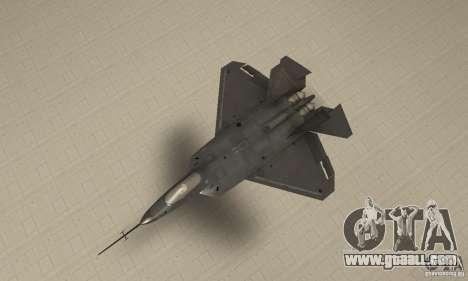 YF-22 Black for GTA San Andreas right view