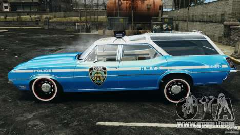Oldsmobile Vista Cruiser 1972 Police v1.0 [ELS] for GTA 4 left view