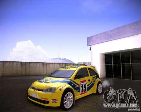 Opel Corsa Super 1600 for GTA San Andreas