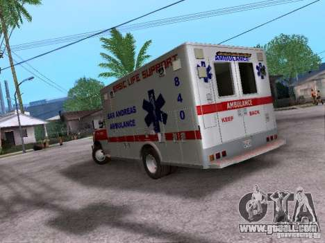 Ford E-350 Ambulance v2.0 for GTA San Andreas back left view