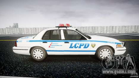 Ford Crown Victoria Police Department 2008 LCPD for GTA 4 back view